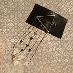 NWT Free People triangle dangle strands hair clip